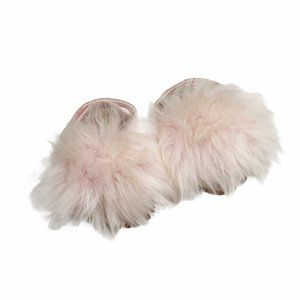 UGG Pink Furry Holly Sandals